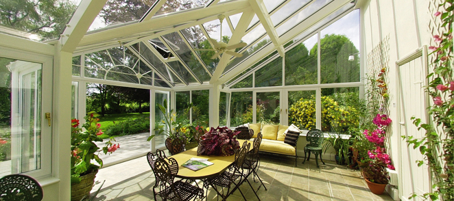Inside shot of an orangery